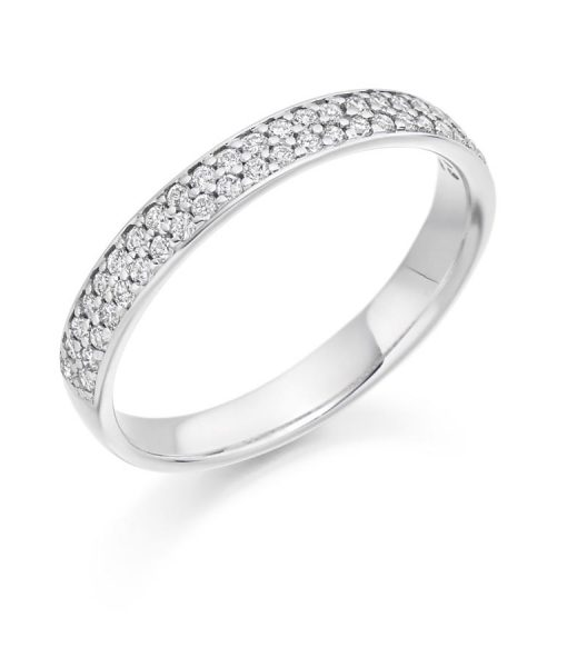 Double Row Pave Set Diamond Band HET3153A